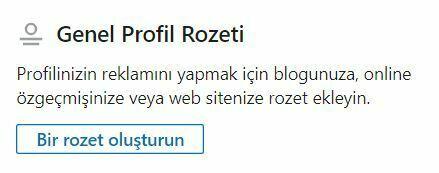 linkedin profil rozeti
