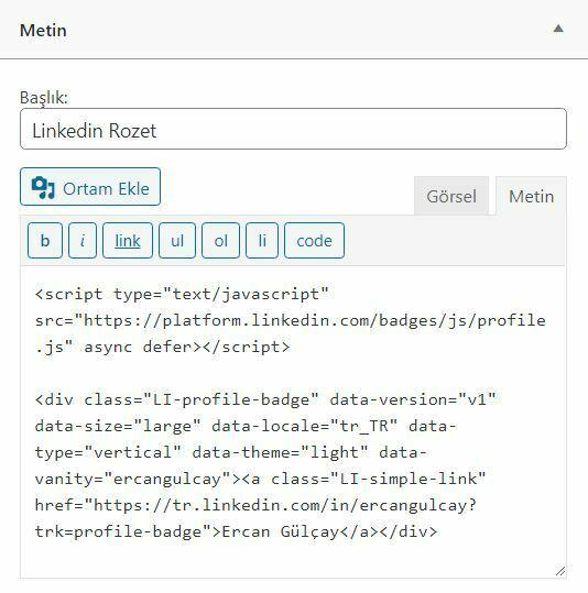 linkedin profil rozeti nasıl alınır